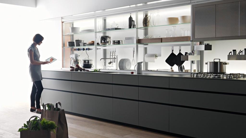 disposizione cucina lineare