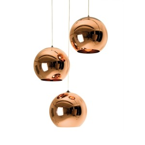 Copper Round Pendant 45cm di TOM DIXON
