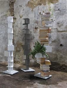 libreria a colonna Cleopatra di Minotti Italia