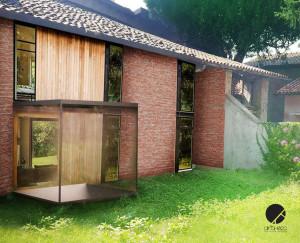 pianta casa di campagna