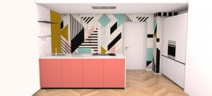 Cucina Living coral pop