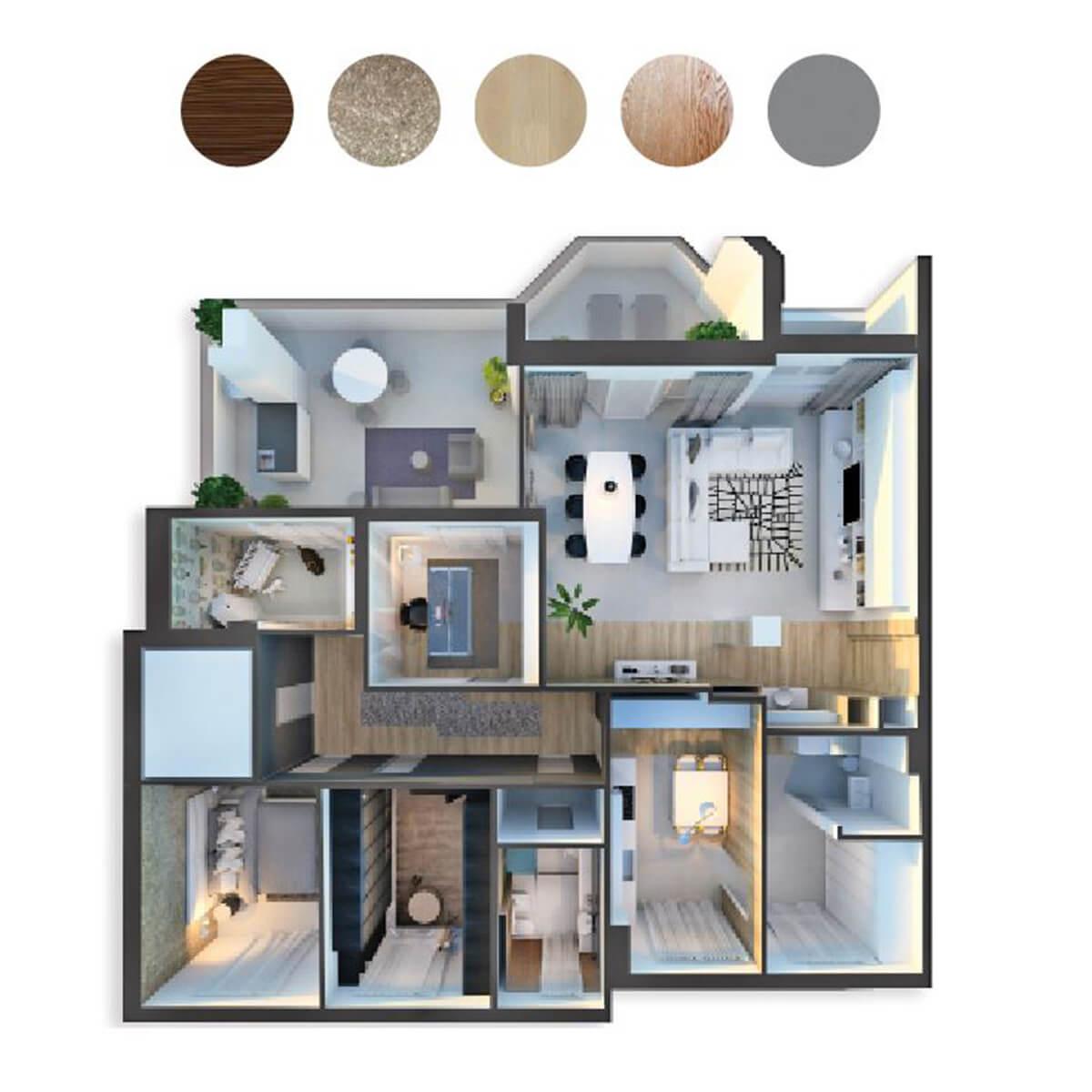 Progettazione interni appartamento Milano