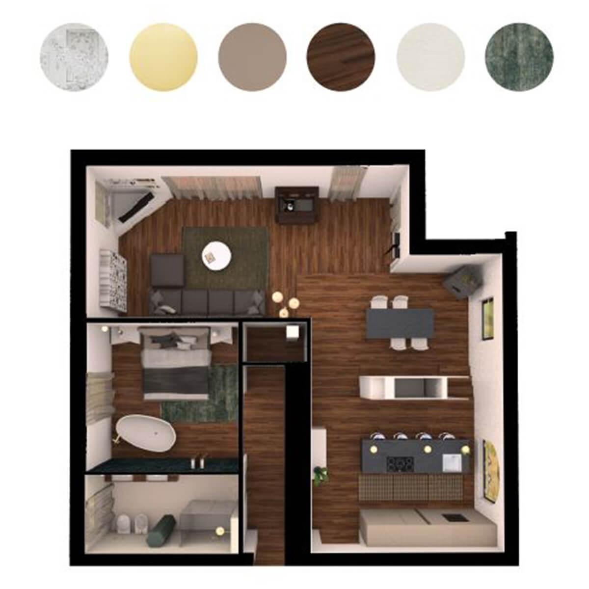 Progettazione interni appartamento Varese