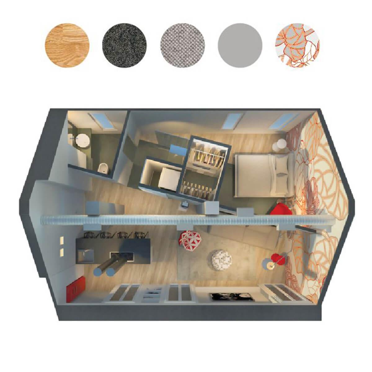 Progettazione interni loft