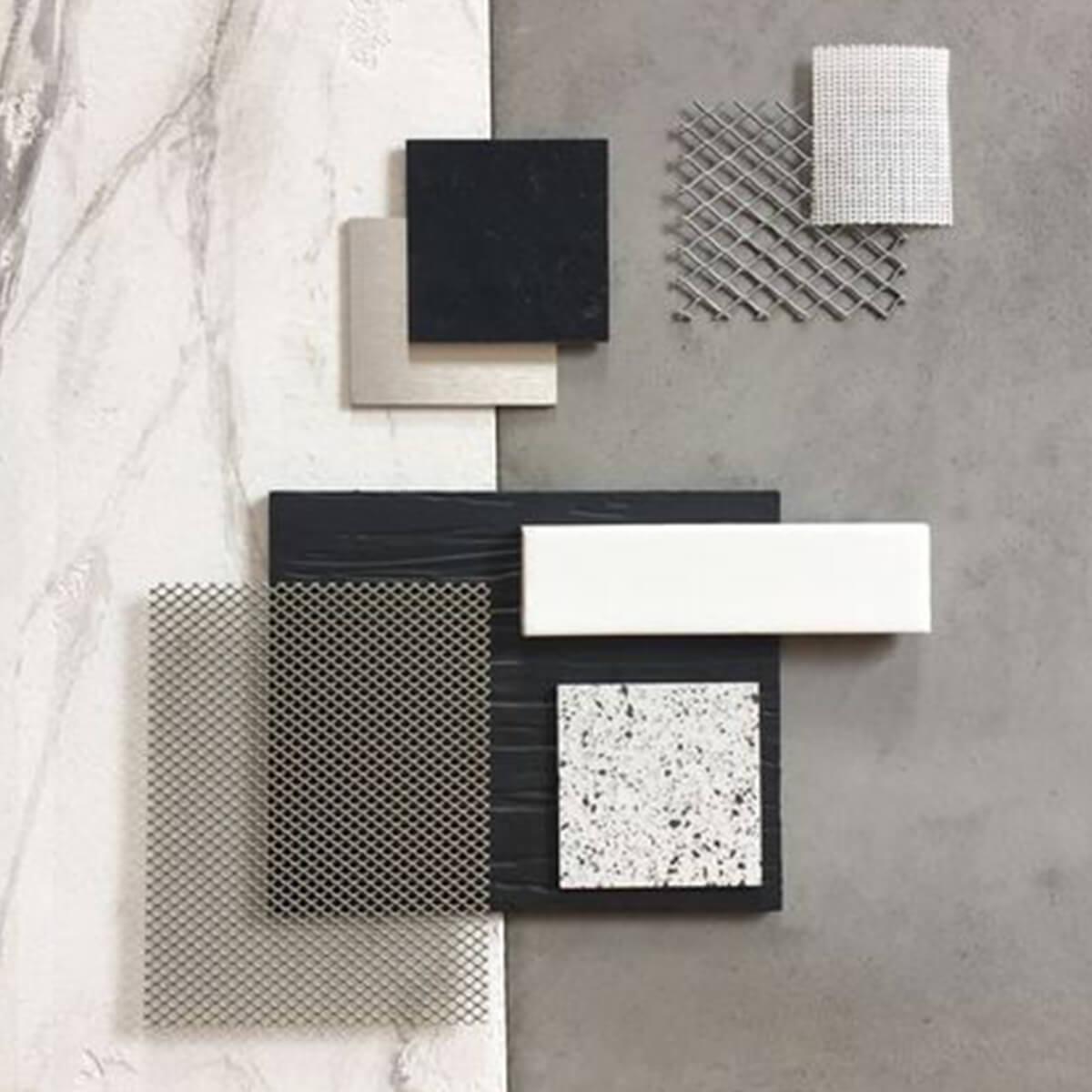 Progettazione interni bianco e nero