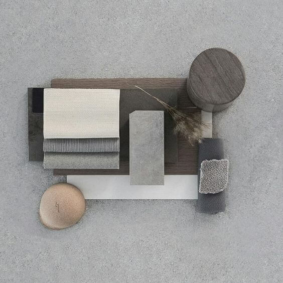 Progettazione interni colore grigio