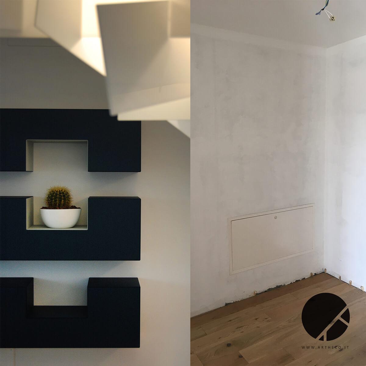 ristrutturazione parete prima e dopo