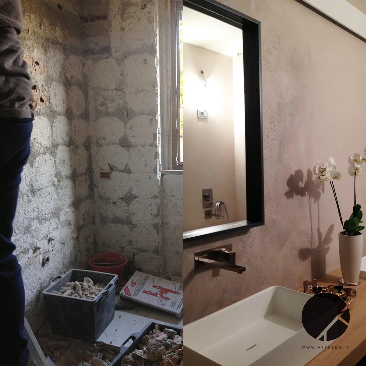 ristrutturazione bagni moderni prima e dopo