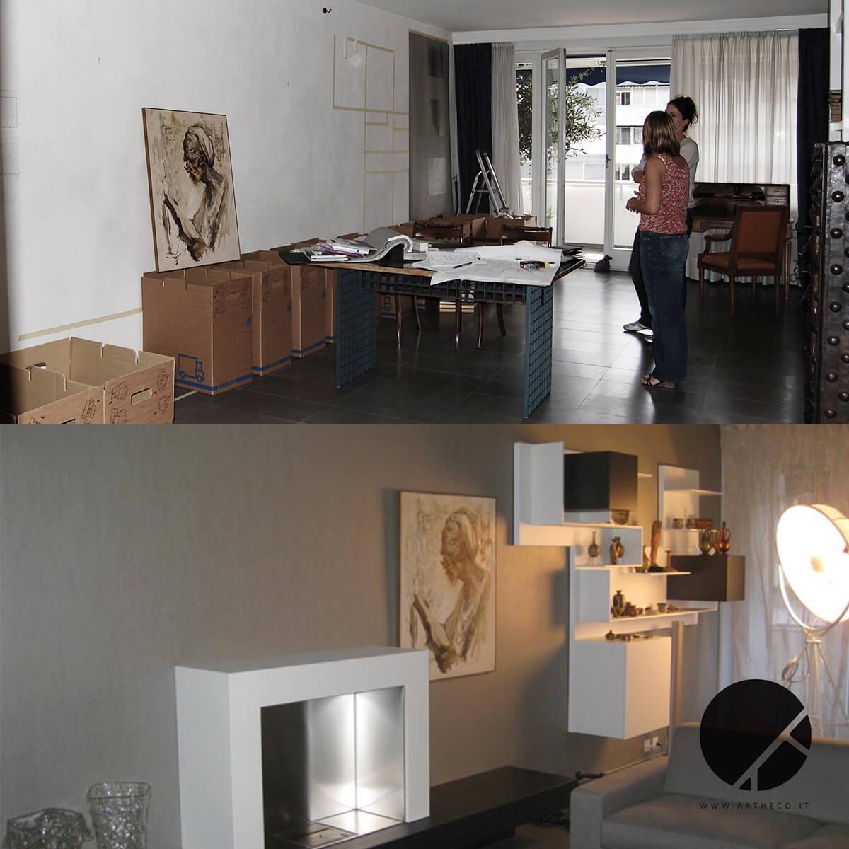 ristrutturazione sala prima e dopo