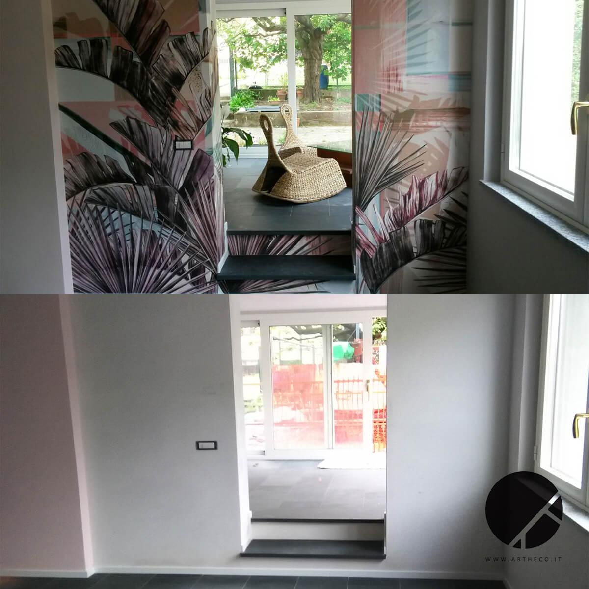 fasi ristrutturazione pareti dipinte