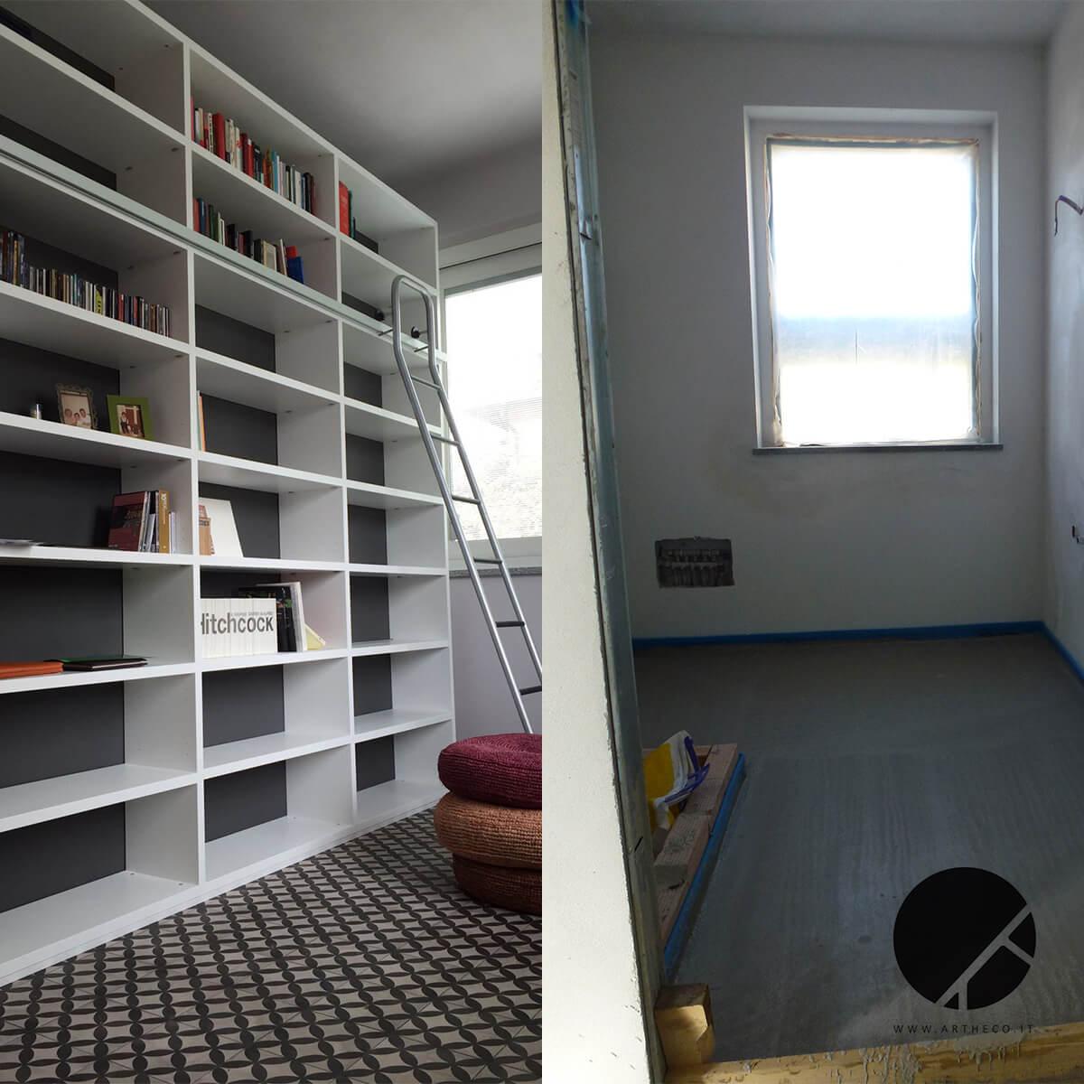 ristrutturazione cabina armadio prima e dopo