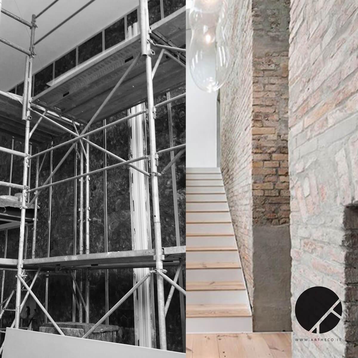 ristrutturazione ambienti prima e dopo