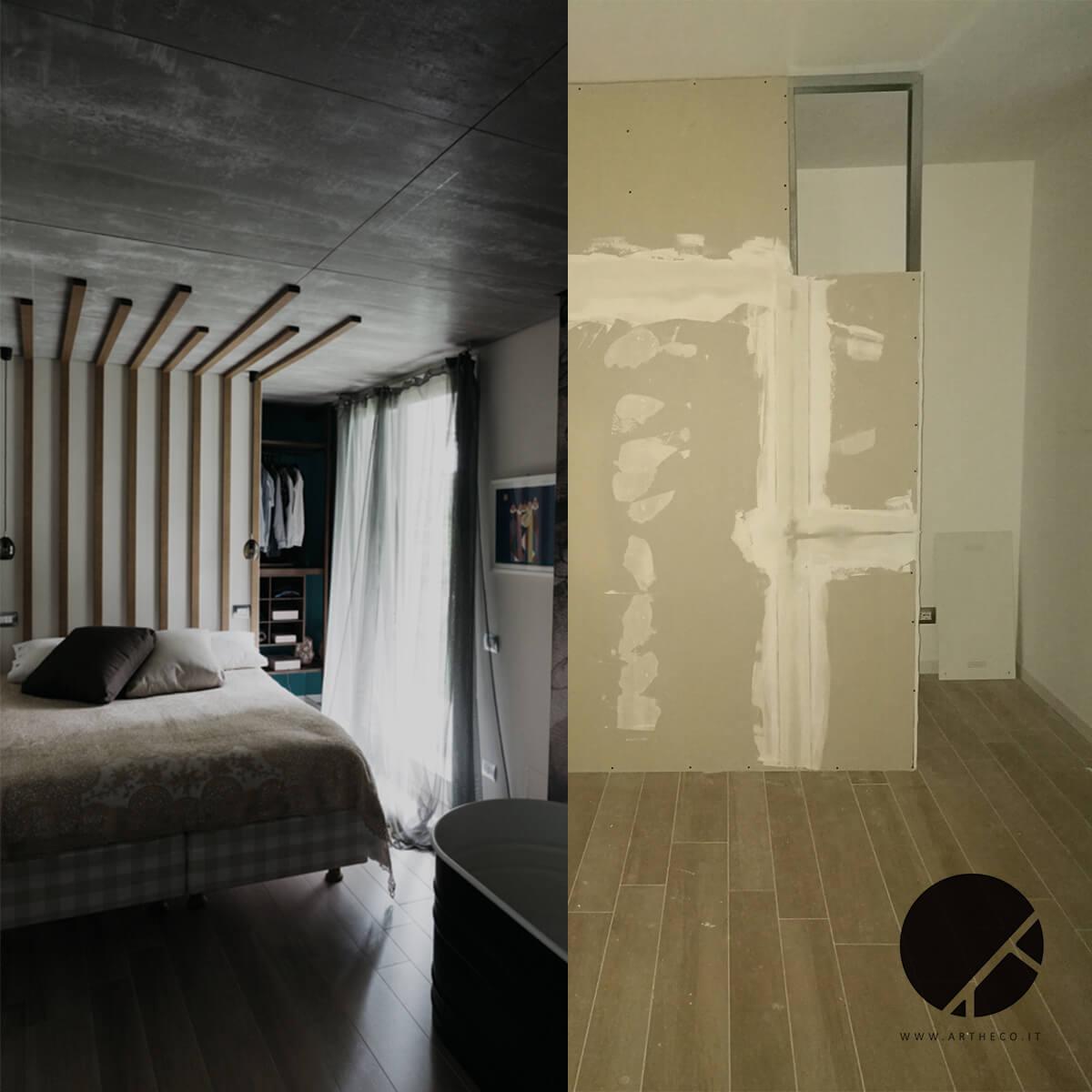 ristrutturazione camere prima e dopo