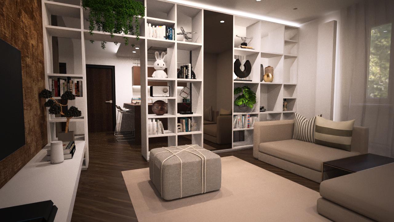 appartamento color marrone castagna