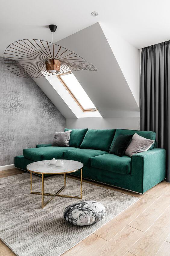 Progetto di un salotto piccolo arredamento
